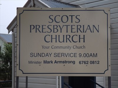 Close up view of Church sign. 0917, Sunday, 17 March, 2019