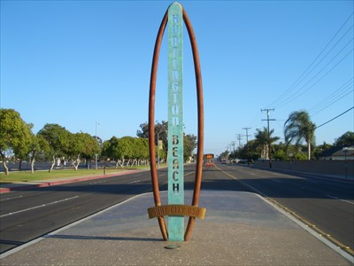 Surf City U S A Huntington Beach Ca Goldenwest Welcome Signs On Waymarking
