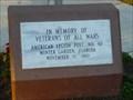 Image for American Legion - Vetrans Memorial - Winter Garden, Florida, USA.