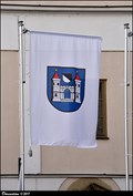 Image for Ricany CoA on flag at Old Town Hall - Ricany (Central Bohemia)