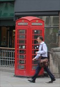 Image for Red Telephone Box -- Fleet Street at Ludgate Circus, City of London, UK