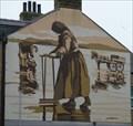 Image for Cockle picker mural - Poulton Road, Morecambe, Lancashire, Uk.