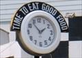 Image for Steel Trolley Diner Clock  -  Lisbon, OH