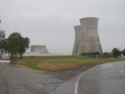 Nuclear Vessel and Cooling Towers, Rancho Seco Nuclear Plant