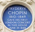 Image for Frederyck Chopin - West Eaton Place, London, UK