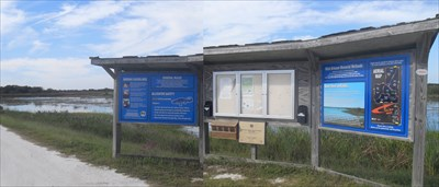 ...the info board at the entrance, with cell 2 behind.