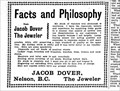Image for Jacob Dover Jeweler - Nelson, BC - 1903
