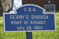 Image for Geary's Division  Tablet - Chickamauga National Battlefield