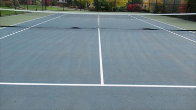 Close up of Court Striping
