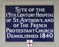 Image for St Anthony Hospital and French Protestant Church - Threadneedle Street, London, UK