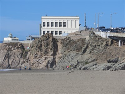 Cliff House from Ocean Beach, San Francisco, California