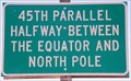Image for 45th Parallel Sign near Shaniko, OR
