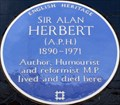 Image for Sir Alan Herbert - Hammersmith Terrace, London, UK