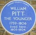 Image for William Pitt the Younger - Baker Street, London, UK
