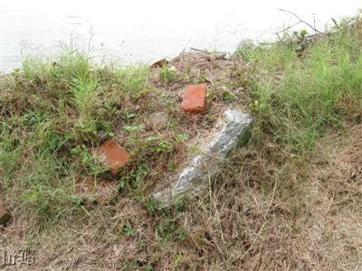 Scattered bricks from the original powder magazine?