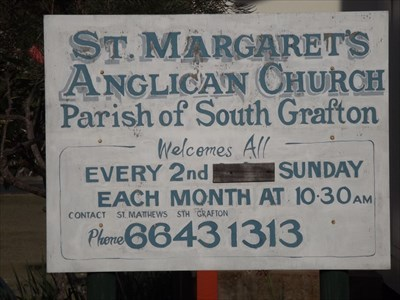 The Church Sign, for a service on only the 2nd Sunday of the month, at 10.30 am.0741, Wednesday, 20 December, 2017