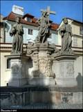 Image for Sousoší Krista Spasitele, Sv. Kosmy a Sv. Damiána na Karlove moste / Sculptural group of Christ the Saviour, St. Cosmas, and St. Damian on Charles Bridge (Prague)