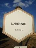 Image for Signe d'altitude du lieu L'Amérique - Emines - Belgique
