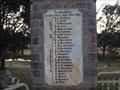 Image for WW1 Honour Rolls, War Memorial Park - Bendemeer, NSW, Australia