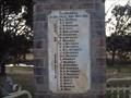 Image for WW1 Honour Rolls, War Memorial Park - Bendemeer, NSW, Australia