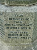 Image for WWII Memorial, St Lawrence Church, Lindridge, Worcestershire, England