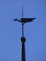 Image for Crane or fisherman Weathervane - Kongreßhalle Leipzig, Saxony, Germany