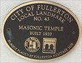 Image for Masonic Temple - Fullerton, CA