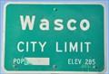 Image for Wasco ~ Elevation 285