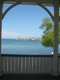 View from the gazebo...Old Fort Niagara in the US
