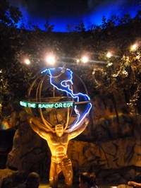Lord Abercrombie visited Rainforest Cafe Earth Globe - Lake Buena Vista, FL