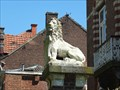 Image for Two Lion Statues at a old house in the Spaansebrugstraat, Sint-Truiden - Limburg / Belgium