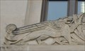 Image for Winged lion-eagle sphinxes -- US Courthouse, 401 N Main St, Wichita KS