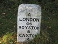 Image for A1198 Milestone - Near Wimpole, Cambridgeshire, UK
