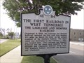 Image for Marker 4E 84  - The First Railroad in West Tennessee