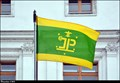 Image for Hlucín - municipal flag on Town Hall / mestská vlajka na radnici - Hlucín (North Moravia)