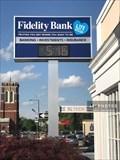 Image for Fidelty Bank time/temp sign - Leominster, Massachusetts  USA