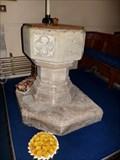 Image for Medieval font - Pendolan Parish Church - Vale of Glamorgan, Wales.