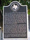 Image for Site of the First Masonic Hall in Fort Worth