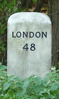 Image for Milestone - A1198, Old North Road / Ermine Street, South of Caxton, Cambridgeshire, UK.