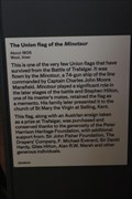 Image for Union Flag from the MINOTAUR -- Nelson Gallery, National Maritime Museum, Greenwich, London, UK
