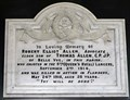 Image for Matthew 6:10 - Robert Elliot Allen Memorial Plaque - Kirk Maughold - Maughold, Isle of Man