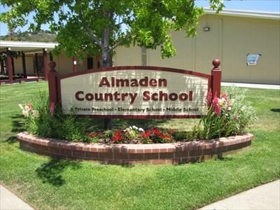 School Sign, Almaden Country School, San Jose, California