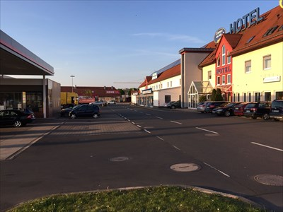 Hotel and shop REWE