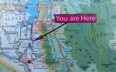 Mission Mountain Range - Ronan, Montana - \'You Are Here ...