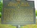 Image for Phillips Mills Baptist Church-GHM 157-23-Wilkes Co