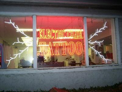 Electric Chair Tattoo - Clio, MI - Tattoo Shops/Parlors on Waymarking.com