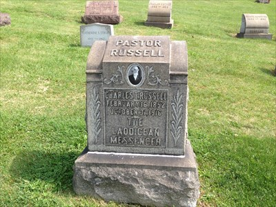 Charles Taze Russell - Grave of a Famous Person on