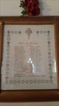 Image for Roll of Honour - St Edmund - Fenny Bentley, Derbyshire