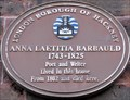 Image for Anna Laetitia Barbauld - Stoke Newington Church Street, London, UK