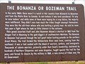 Image for The Bonanza or Bozeman Trail - Big Timber, MT